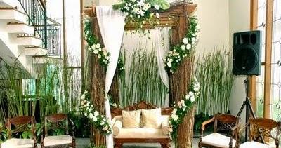 dekorasi kartini: dekorasi bunga pernikahan di rumah