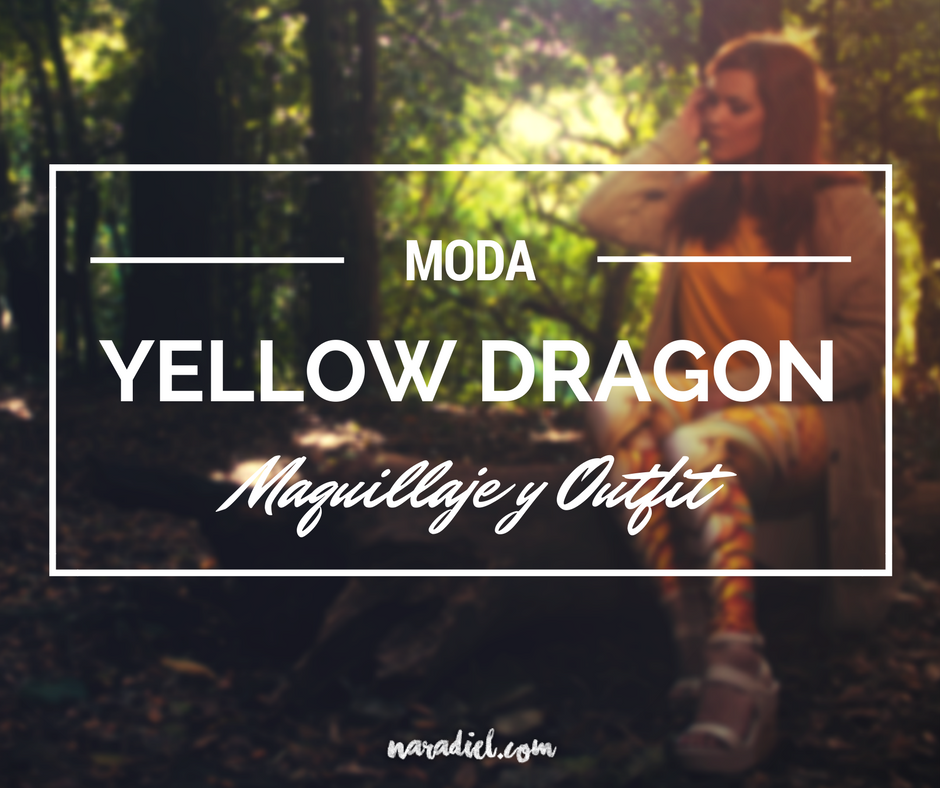 Maquillaje & Oufit Yellow Dragon