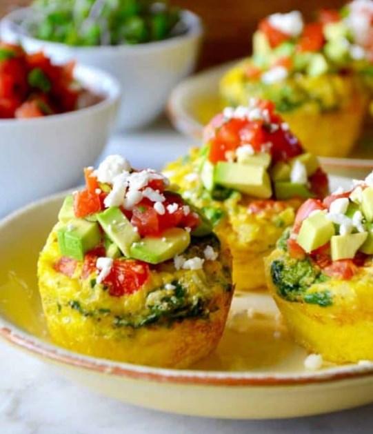 Healthy Breakfast Egg Muffins #breakfast #lowcarb