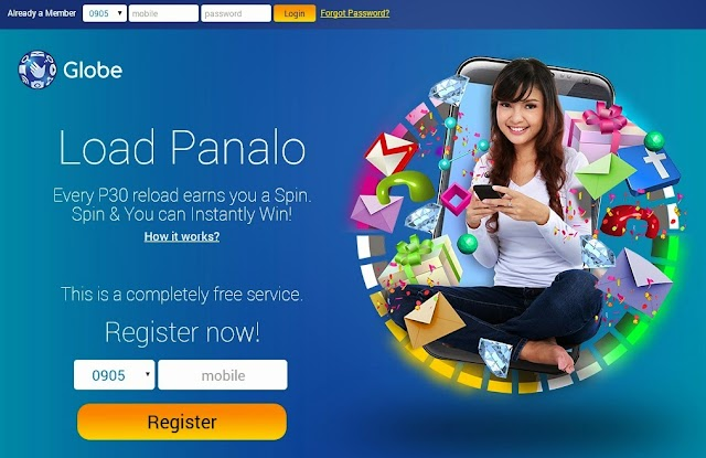 Globe Load Panalo Promo: Reload, Spin and Win!