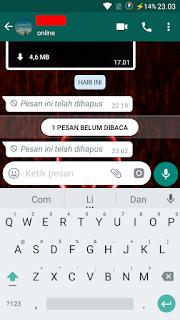 Cara Mengetahui Isi pesan WhatsApp yang telah dihapus oleh teman