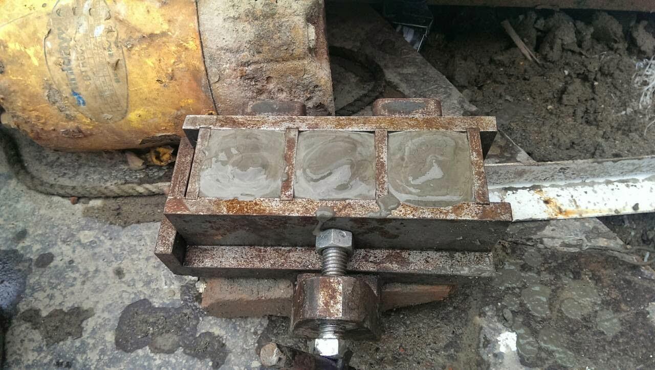 製作預壘樁水泥砂漿試體及排樁機器測試 - 內湖聯邦合家歡如意區自力更新重建實錄