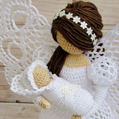 Ажурный ангел крючком