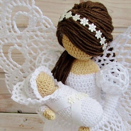 ажурный ангел крючком схема