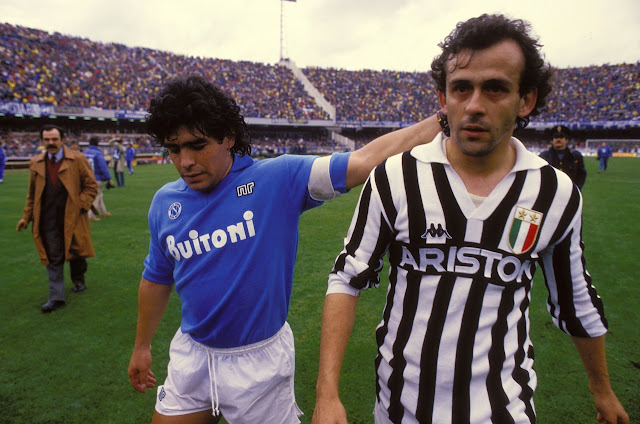 Diego Armando Maradona y Michel Platini, grandes rivalidades deportivas de la historia