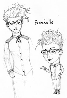 Themo H Peel - gender queer character, Arabella