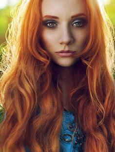 Color rojo anaranjado para el pelo