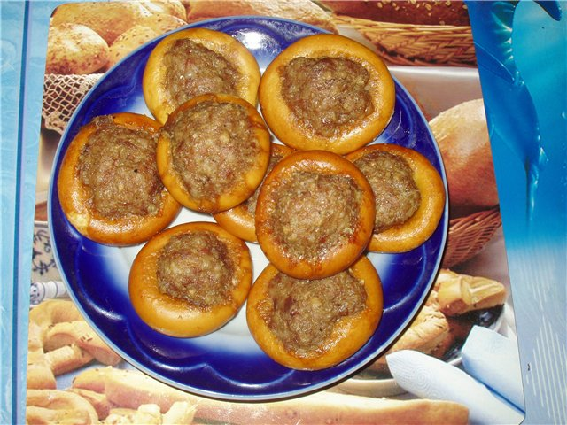 Сушки с фаршем рецепт фото на сковороде