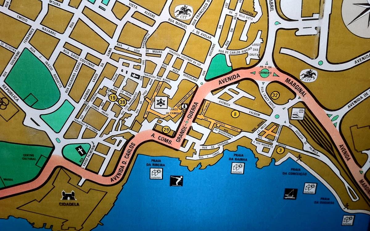 mapa de cascais centro Mapas de Cascais   Portugal   MapasBlog mapa de cascais centro