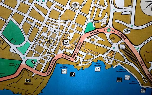 Cascais stret map