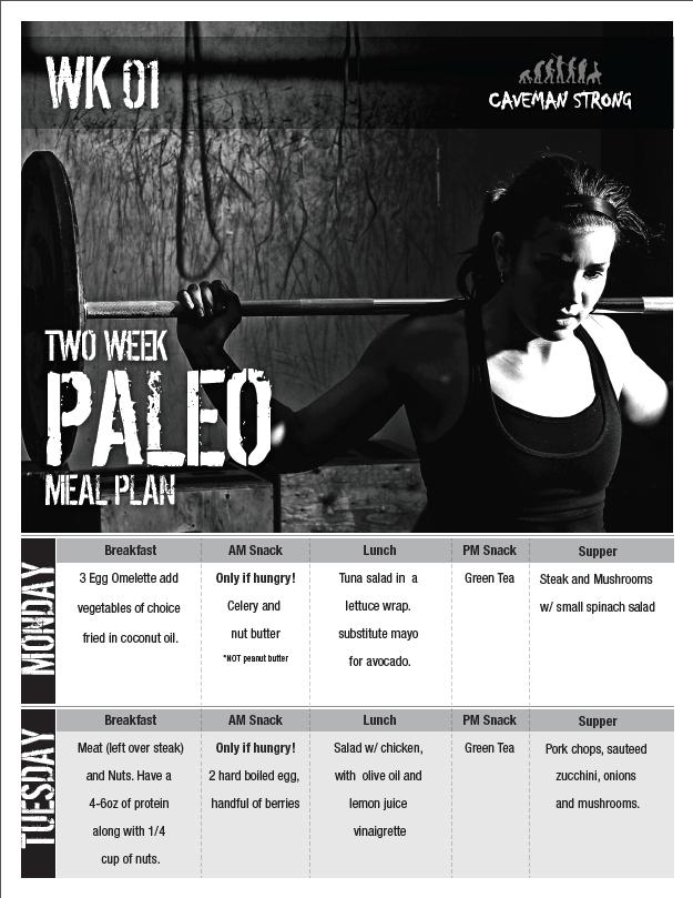 Paleo Weekly Meal Plan