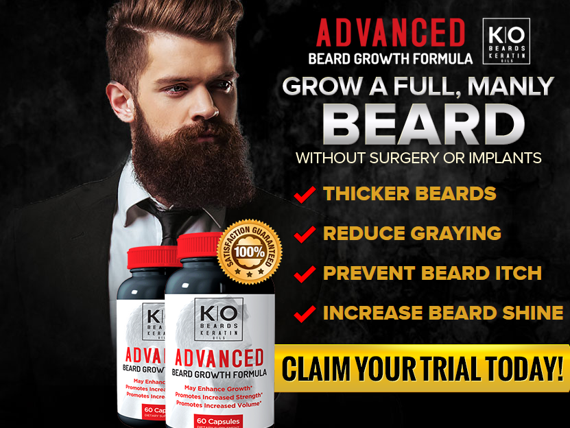 KO Beards Advanced Beard Growth Vitamins