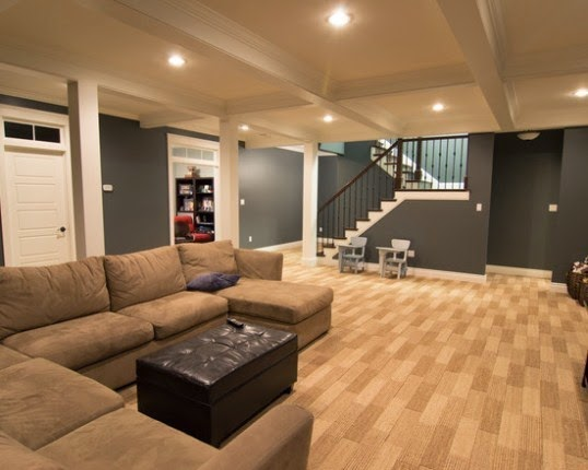 Interior paint colors for basements for Paint colors for brown carpet