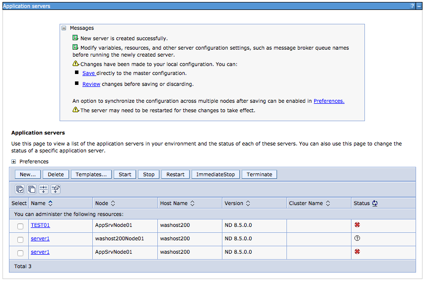 how to create jvm in websphere application server