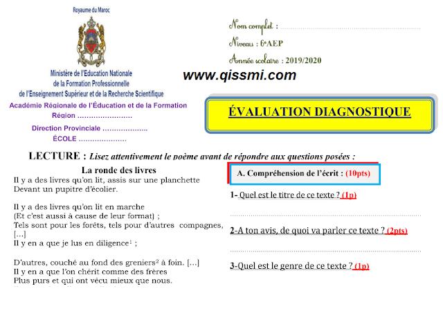 التقويم التشخيصي للغة الفرنسية