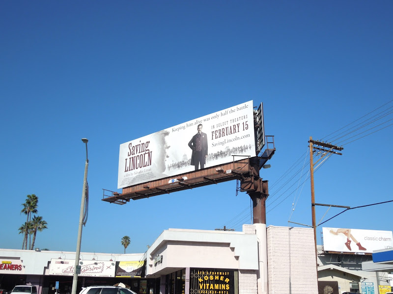 Saving Lincoln movie billboard