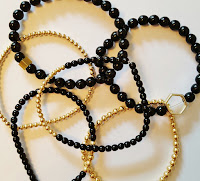 Fickle Craftroom black and gold jewellery commission