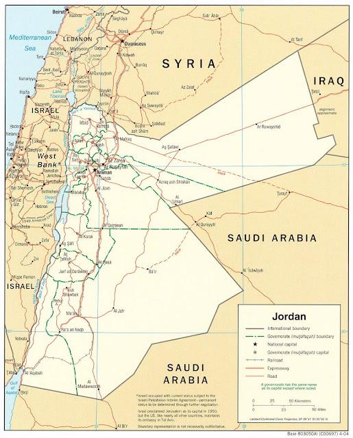 خريطة الأردن Jordan Map