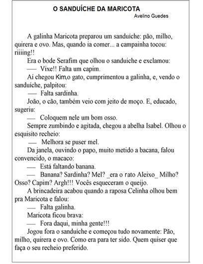 Sequencia Didatica O Sanduiche Da Maricota Ensinando Com Carinho
