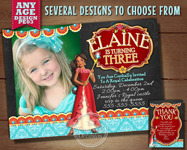 PRINCESS ELENA OF AVALOR ENVELOPE STICKERS FOR BIRTHDAY INVITATIONS AND THANK YOU CARDS
