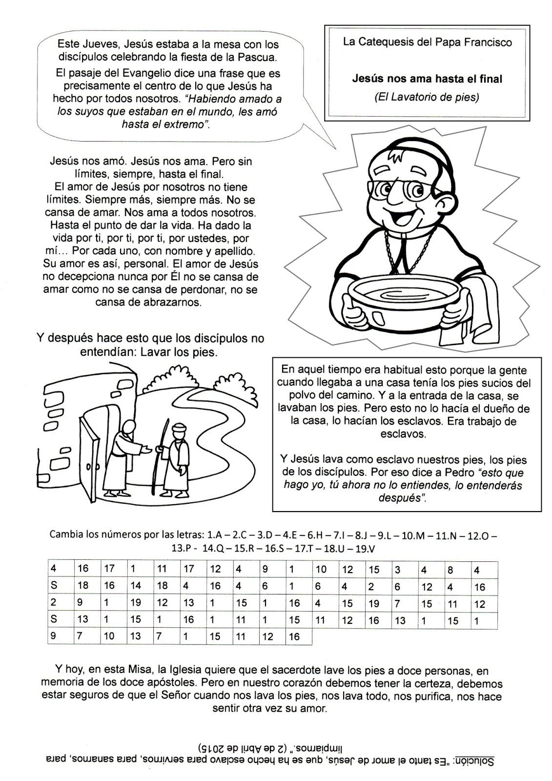 La Catequesis (El blog de Sandra): Recursos Catequesis Jueves Santo