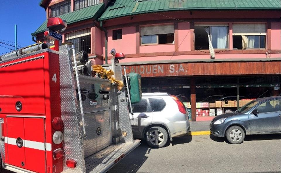 Incendio y choque en Ushuaia