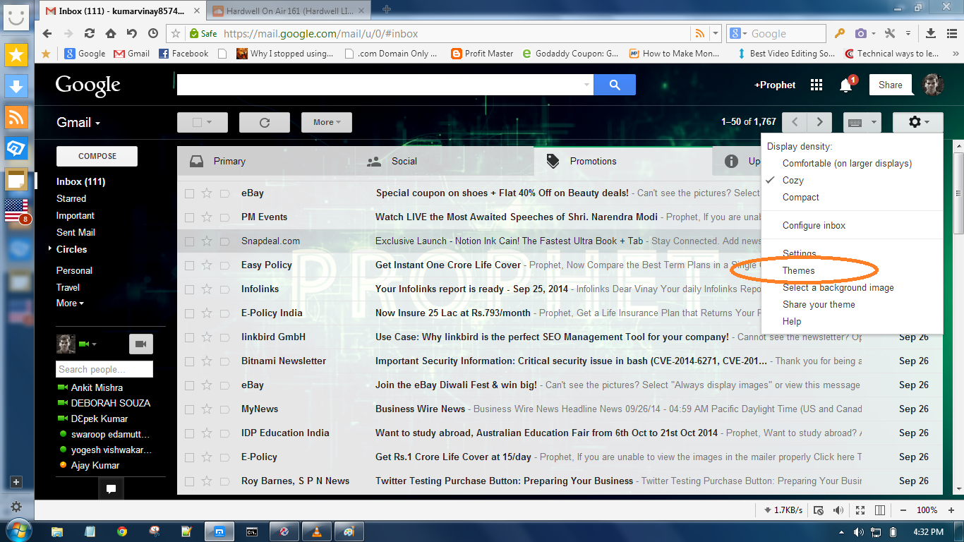 gmail background picture themes