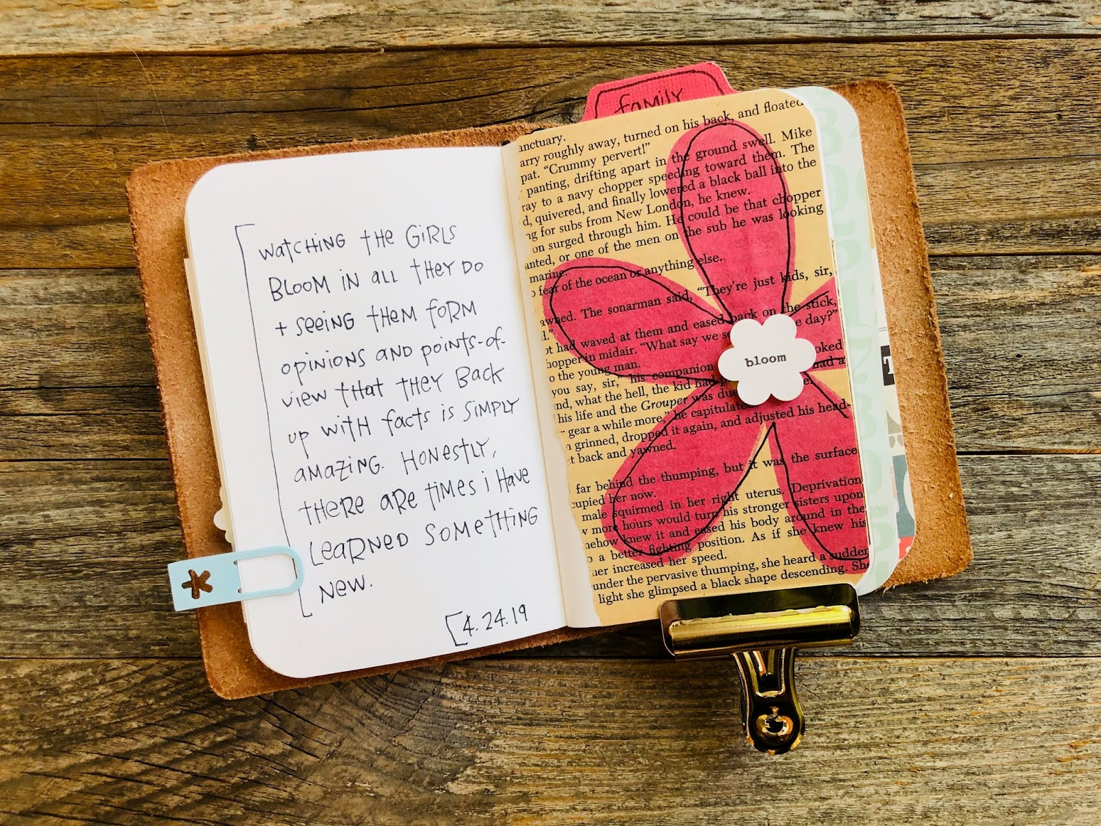 #Gratitude Journal #I Am Thankful #Gratitude #Journal #Travelers Notebook #art journaling #thankfulness #grateful