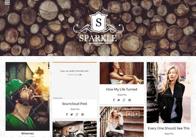 Sparkle Grid Responsive Blogger Theme