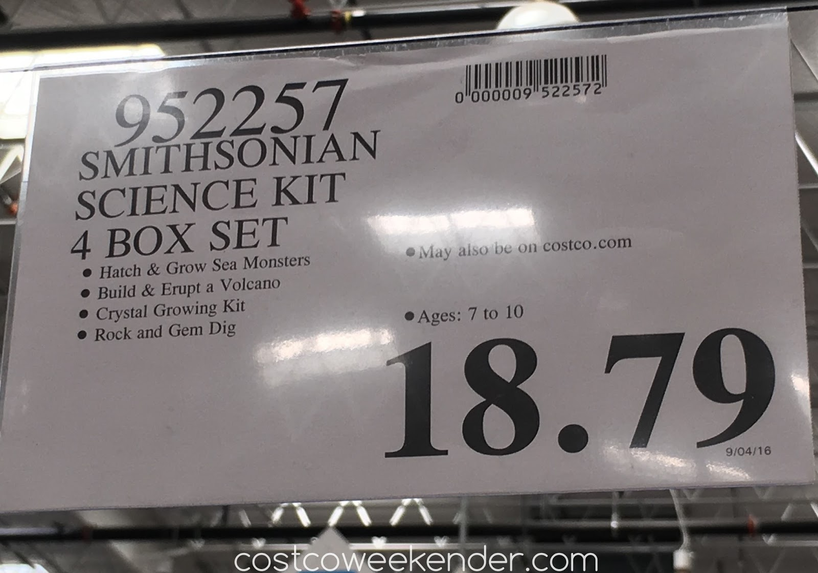Deal for the Smithsonian Science Kit 4 Box Set at Costco