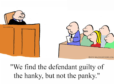 We find the defendant guilty of hanky, but not panky.