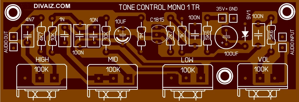 Layout-tone-control-1-transistor
