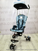 Kereta Bayi LightWeight CocoLatte CL08 iSport Big Polkadot Blue