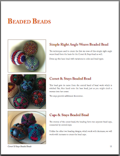Corset & Stays Beaded Bead Tutorial, page sample