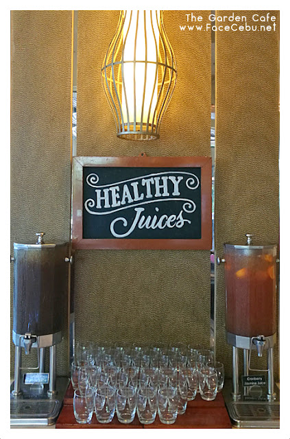 Healthy Juices at the Garden Cafe