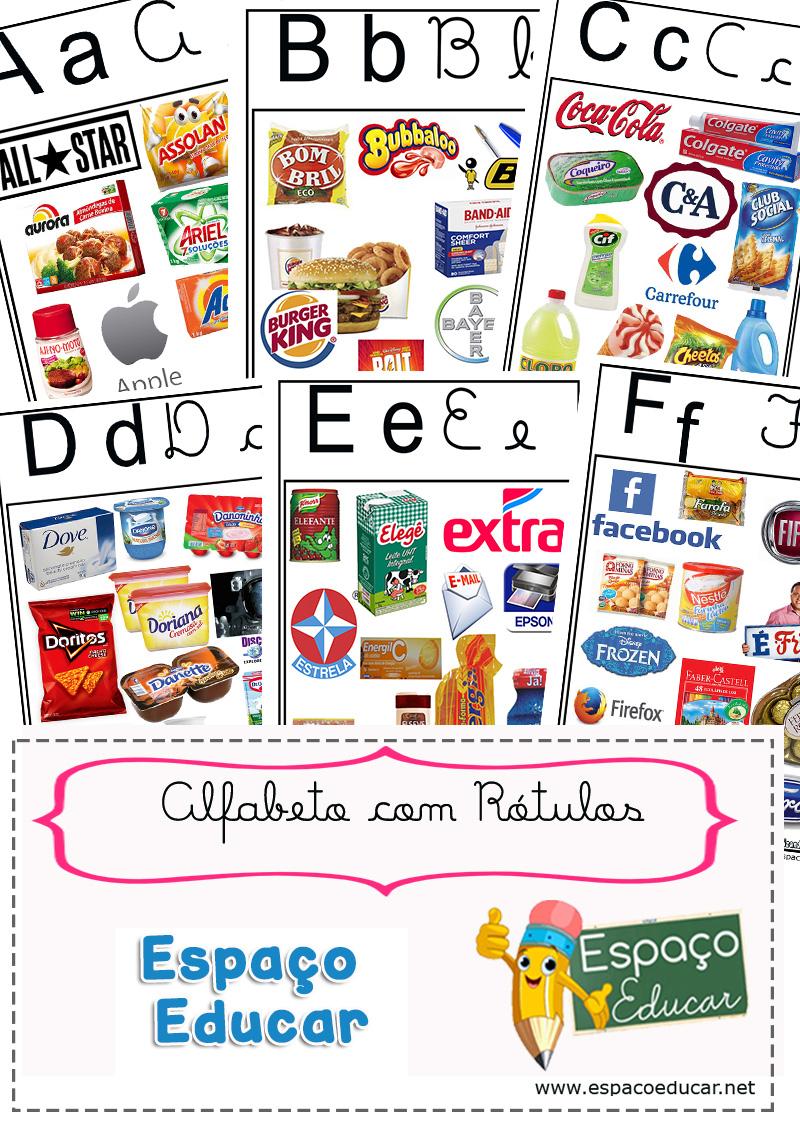 Alfabeto Com Rotulos Para Voce Imprimir Gratis Espaco Educar