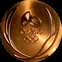 Rio 2016 Summer Games gold medal