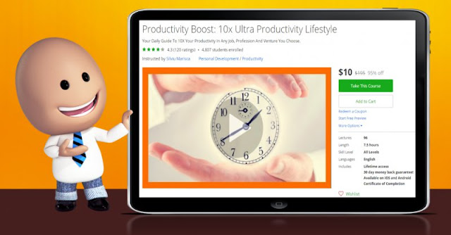 [95% Off] Productivity Boost: 10x Ultra Productivity Lifestyle| Worth 195$