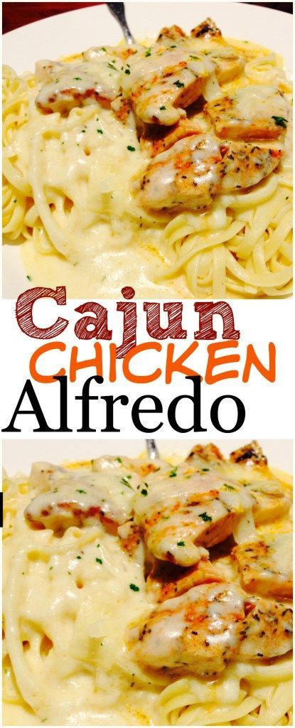 CAJUN CHICKEN ALFREDO #dinner #maincourse #cajun #chicken #alfredo