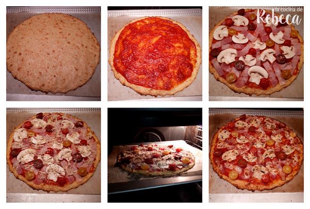 Receta de pizza con masa de coliflor 03