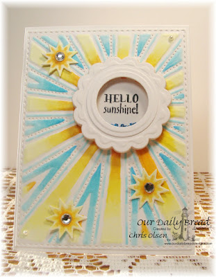 Our Daily Bread Designs Stamp Sets: Hello Sunshine, ODBD Custom Dies: Recipe Card and Tags, Sunburst Background