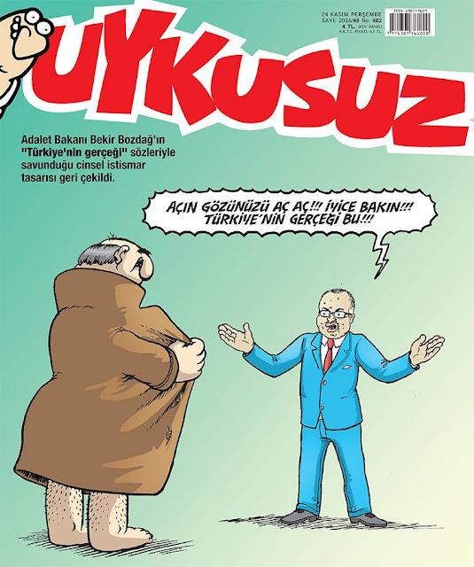 Uykusuz Dergisi | 24 Kasım 2016 Kapak Karikatürü