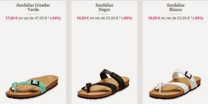 Sandalias para mujer a 17 y 18 euros