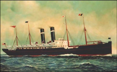 color image of SS Kroonland Red Star Line