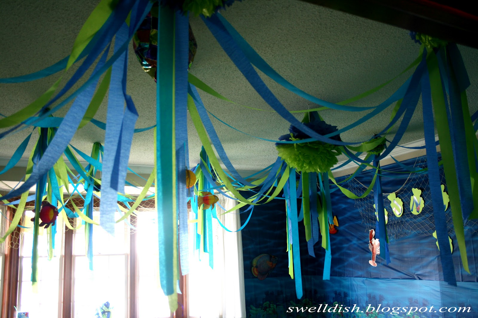 Here Is A Shot Of The Ceiling Decoration Plan Was To Actually Have Hundreds Individual Streamers Hanging Down But I Couldn T Get Tape Stick