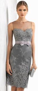 vestido corto con escote de canesu transparente 2018