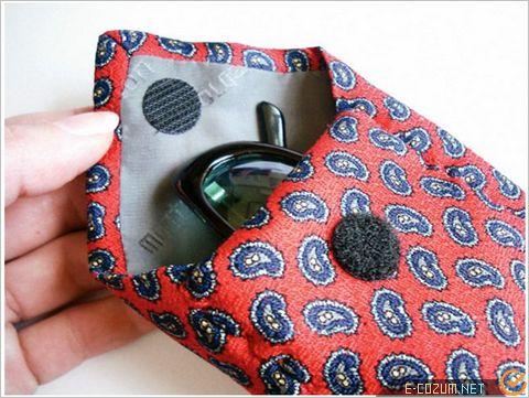 Kravattan çanta süsleme