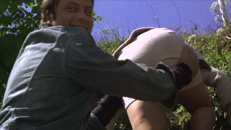 Oliver Reed and Carol Lynley's ass from The Shuttered Room (1966)