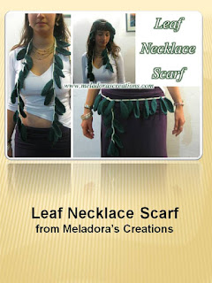 http://www.meladorascreations.com/leaf-necklace-scarf-free-crochet-pattern/