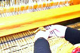 weaving of plain power loom